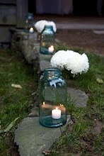 Mason jars with candles lite the way