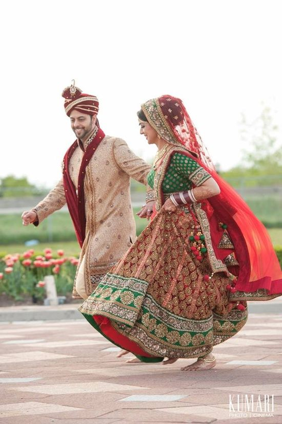 Such a cute moment captured of the bride and groom! Aline for Indian weddings!