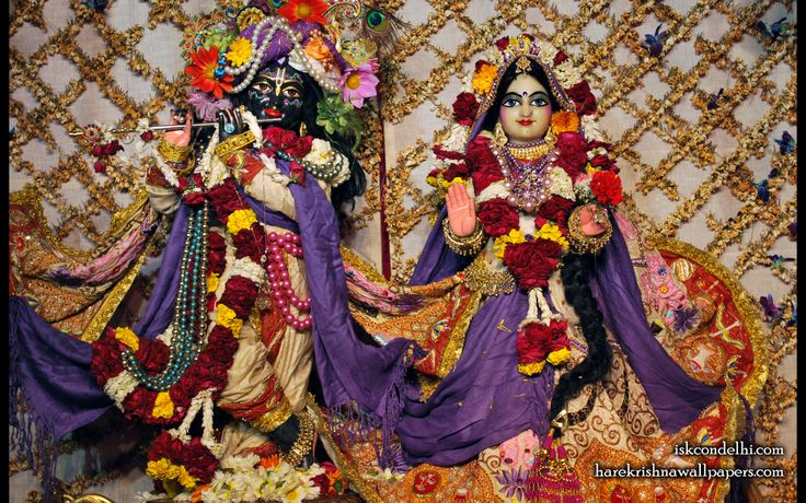 To view Radha Parthasarathi Wallpaper of ISKCON Dellhi in difference sizes visit - http://harekrishnawallpapers.com/sri-sri-radha-parthasarathi-iskcon-delhi-wallpaper-005/