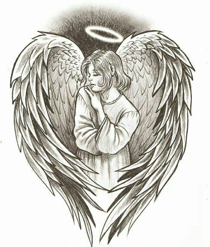 Картинки татуировок ангел