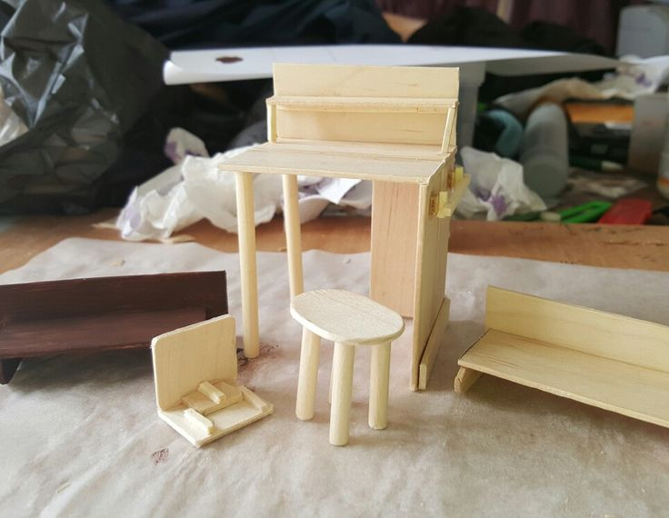 Furniture for miniature shop