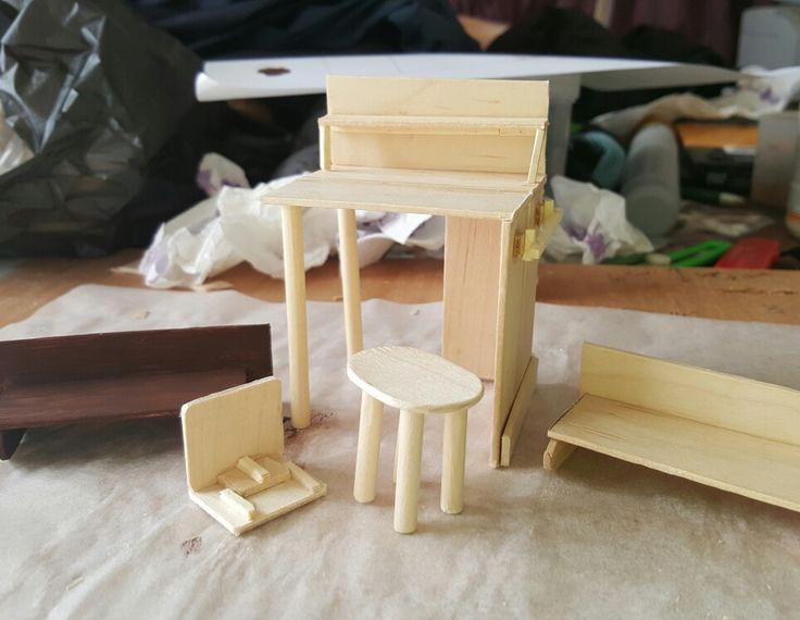 Furniture for miniature shop