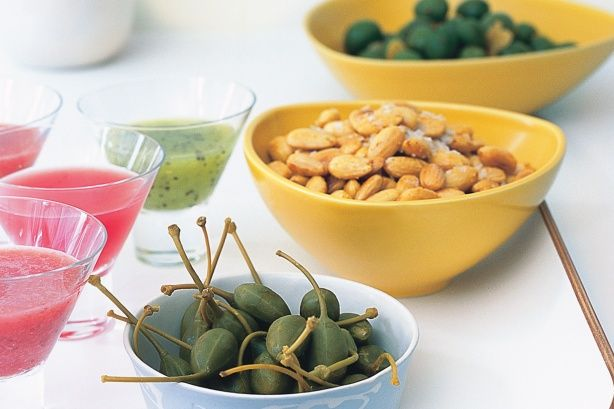 Marinated olives, spiced almonds & caperberries main image