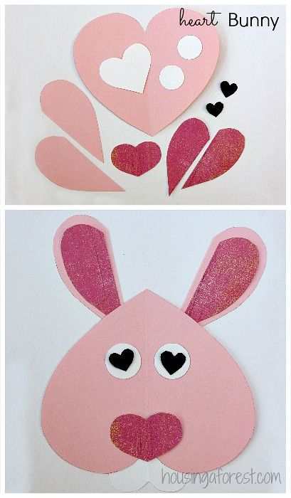 You kids will love creating this simple hippity hoppity project.  You could even make a bunch of them and create a beautiful garland.  Plus it would look adorable for Valentines Day or Easter!  Two holidays in one craft.