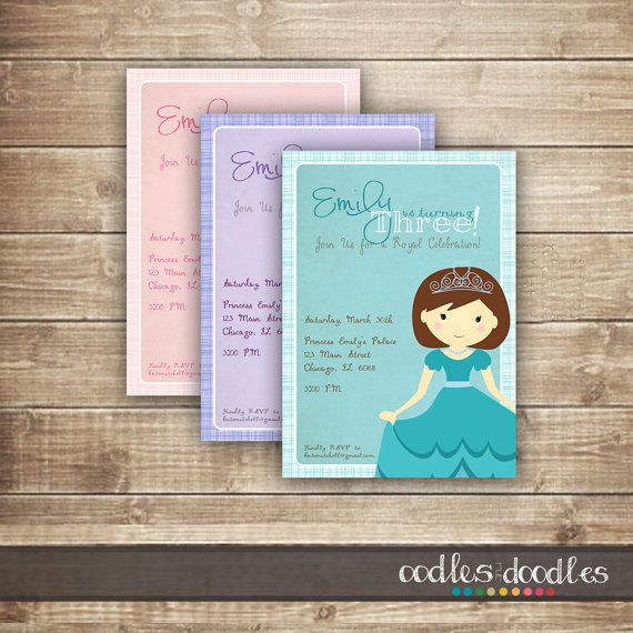 This sweet fairy princess birthday invitation is just the right detail for your little girls special party! The invitation is personalized with your childs