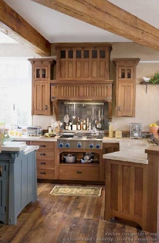 Love these mission style cabinets