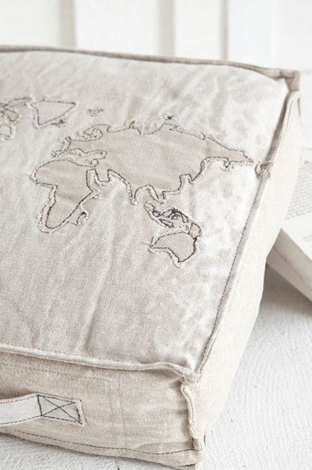 ⇚ Map Quest ⇛ maps & globes in history, art, craft & decor - map pillow