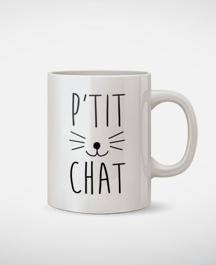 Mugs Femme P'tit Chat Blanc by Madame TSHIRT