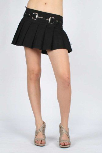 Tripp NYC Buckle Skirt in Black, Size: X-Small, Color: Black Tripp NYC. $46.95