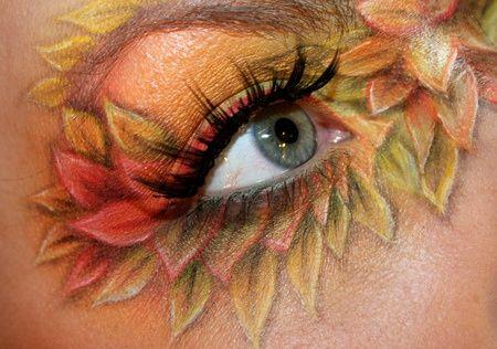 Autumn Leaf Eye Makeup Beauty Eyes Holiday Makeup