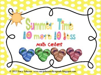 Common Core math game- 10 more/10 less mental math