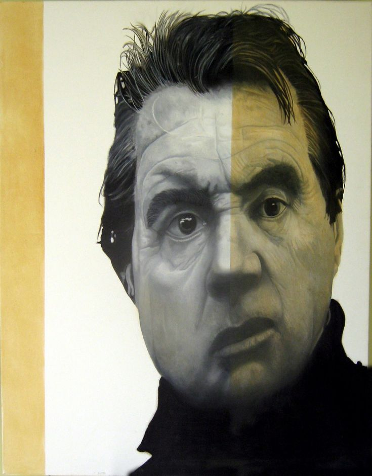Bacon 3(Artist Francis Bacon )  By Alfonso Ragone    Original Oil on Canvas Unframed  Measurement:  80x100cm    Remarks: Francis Bacon was an Irish-born British figurative painter known for his bold, grotesque, emotionally charged, raw imagery.
