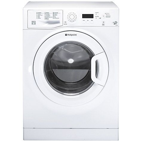 Buy Hotpoint WMJLF842P Freestanding Washing Machine, 8kg Load, A   Energy Rating, 1400rpm Spin, White Online at johnlewis.com