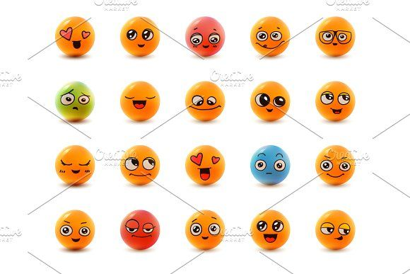 Set of 20 smiley face icons.  by goodreason on @creativemarket