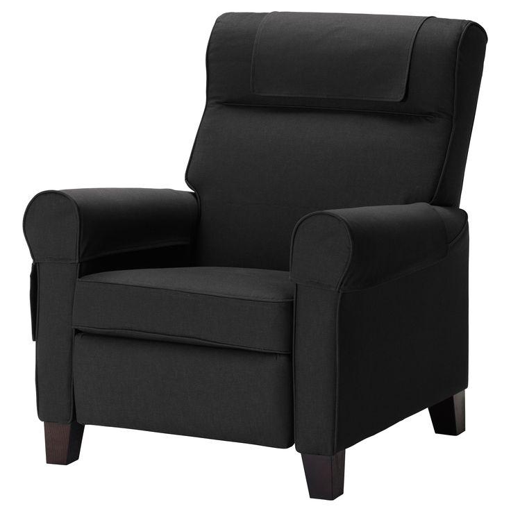 Stocksund chair ljungen light red black wood armchairs - Sillon reclinable ikea ...