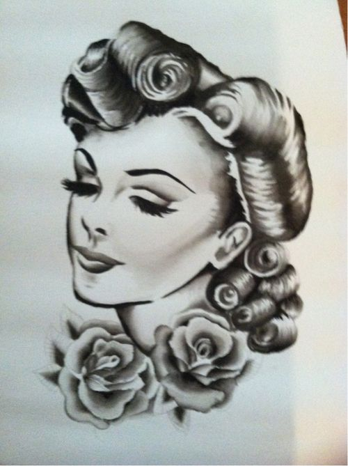 how to draw pin up hair