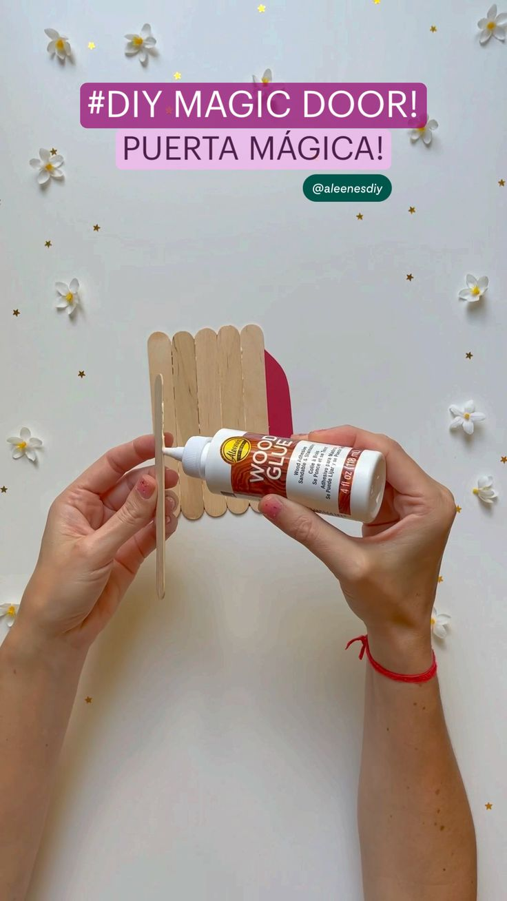 Popsicle Stick Crafts, Craft Stick Crafts, Wood Crafts, Easy Crafts, Summer Activities For Kids, Wood Glue, Faux Flowers, Spray Painting, Outdoor Projects