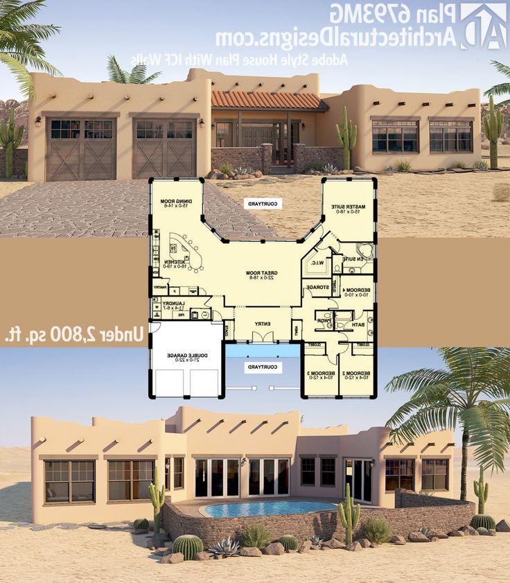 Super Adobe House Plans: Plan Mg Adobe Style House Icf ...