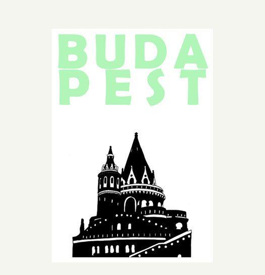 Budapest  Print  A3 by Pomalia on Etsy, $24.00
