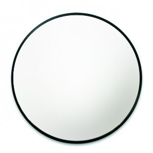 Bringing back heft and substance into our mirrors, Hub is an oversized glass mirror with black rubber rim that's a perfect statement piece in every room.   Dimensions: L94cm x H94cm x D2.5cm