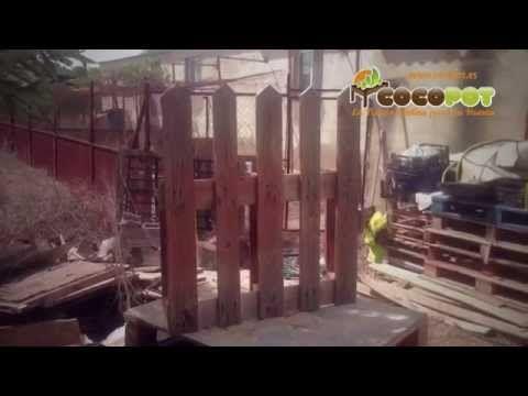 Cómo hacer valla para jardín con palet