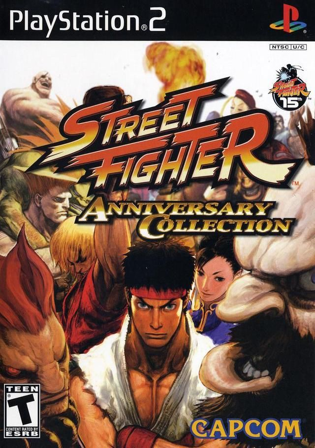 Street Fighter Anniversary Sony Playstation 2 Game