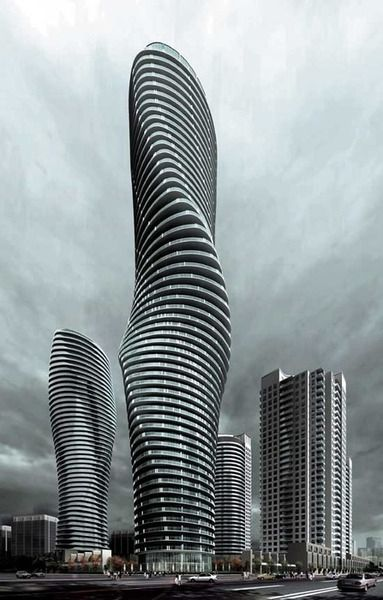 The Absolute Towers in Mississauga, Ontario, Canada... love them....makes me proud to be Canadian !