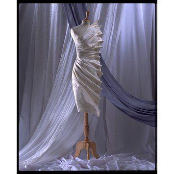 Evening dress - Bird's Wing - Antony Price (designer - born 1945) - Silk Taffeta