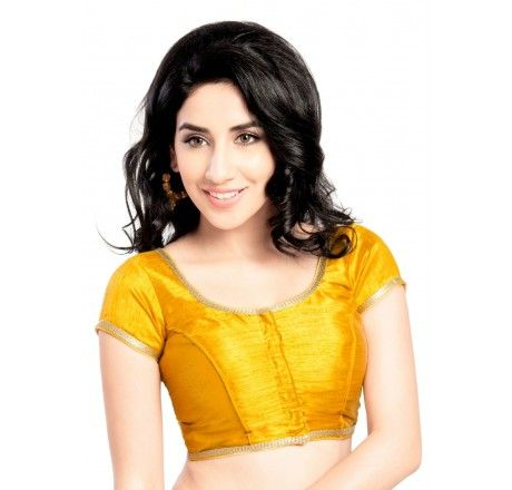 Must Have brocade padded ready made designer saree blouse