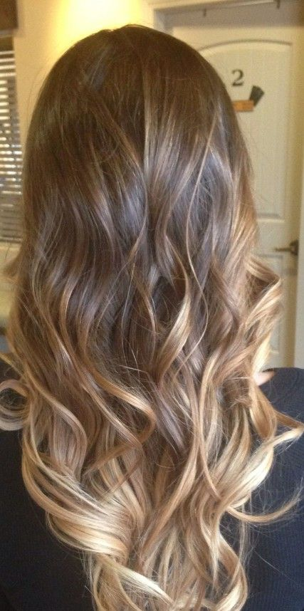 Combination of balayage and ombre in hair