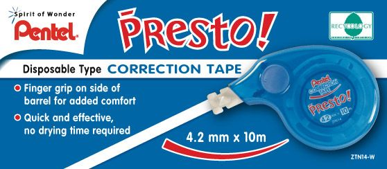 Pentel Presto Correction Tape