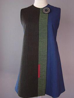 Wrapper Shoulder Vest in Brown and Black