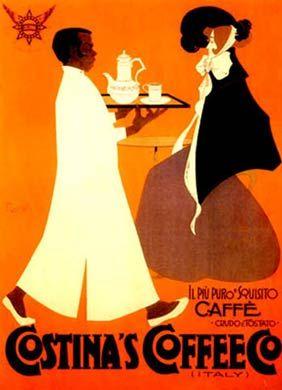 Vintage Italian Posters ~ #illustrator #Italian #posters ~ Costinas #Coffee