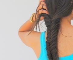 Love the fishtail braidHair Ideas, Fish Tail, Hairstyles, Makeup, Long Hair, Beautiful, Hair Style, Fishtail Braids, Nails