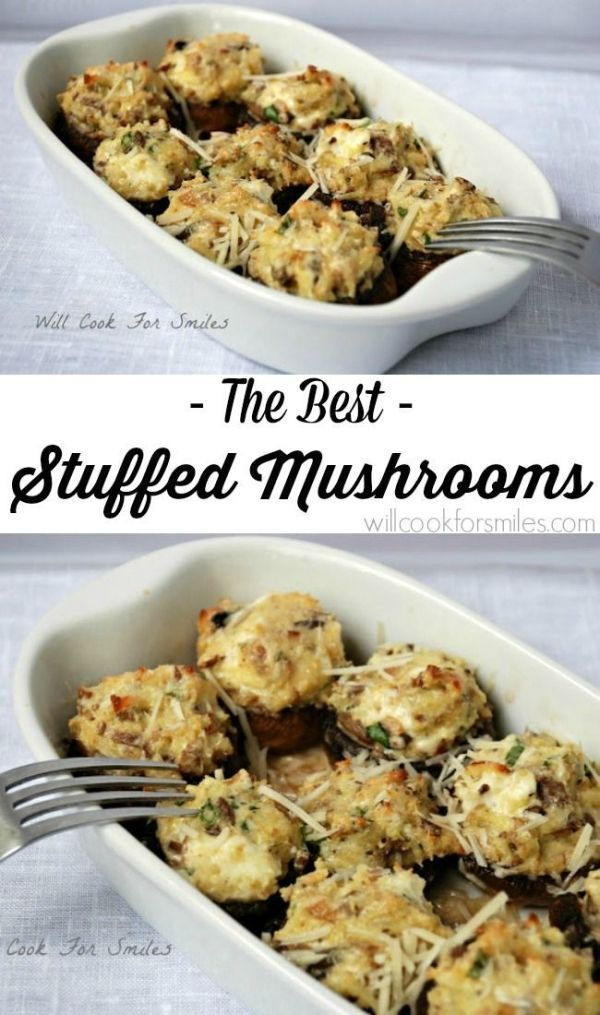 Greatest Stuffed Mushrooms that you'll ever tried!! from willcookforsmiles.com by Seriously?