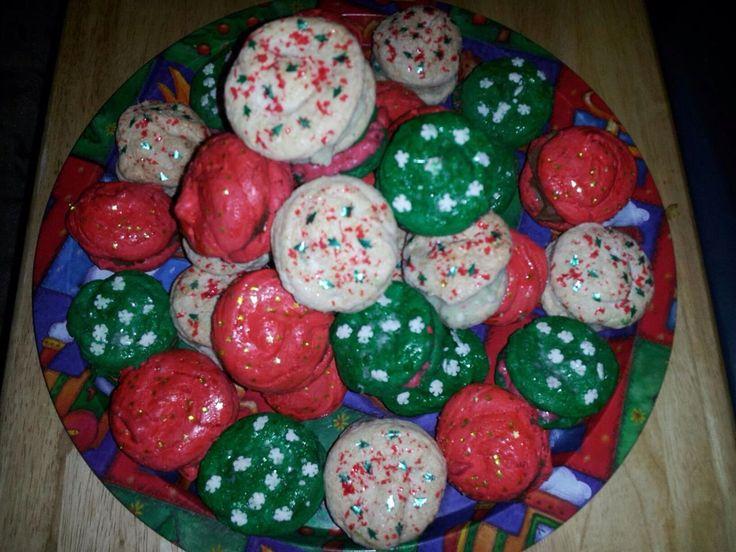 Christmas macaroons