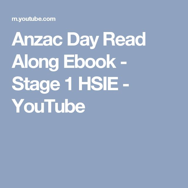 Anzac Day Read Along Ebook - Stage 1 HSIE - YouTube