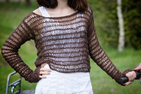 Summer sweater Loose knit sweater  by Isabellwoolstudio on Etsy