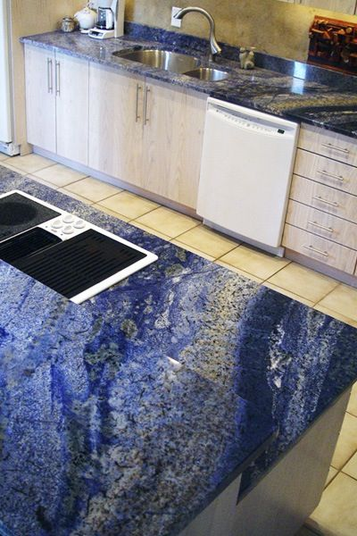 33 best Vivid Blue Granite Countertops images on Pinterest | Blue ...