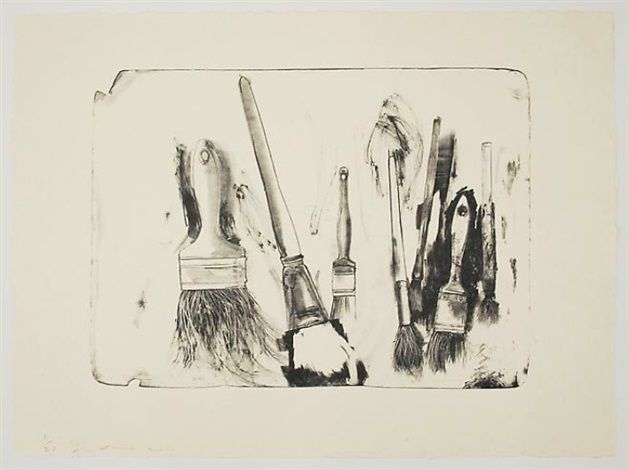 Brushes Drawn on Stones #2 by Jim Dine
