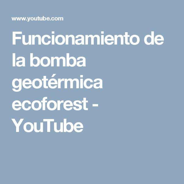 Funcionamiento de la bomba geotérmica ecoforest.  #energías renovables #biomasa #estufas de pellets #calderas de pellets #ecoforest #geotermia #aerotermia #mantenimiento estufas de pellets #instalación calderas de pellets #eficiencia energética #prolexter