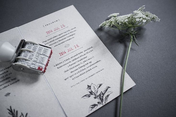 Eszter laki wedding invitation