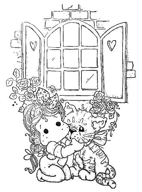 Tilda with cat - Magnolia