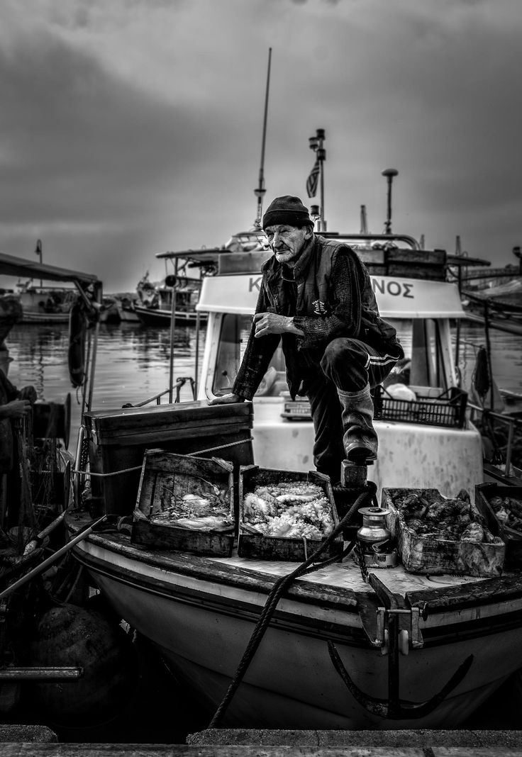 Fisherman in Volos (Greece) by Danny Portnoy on 500px