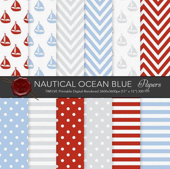 Digital paper Ocean Blue 12x12 300ppi by CornucopiaArtDesign