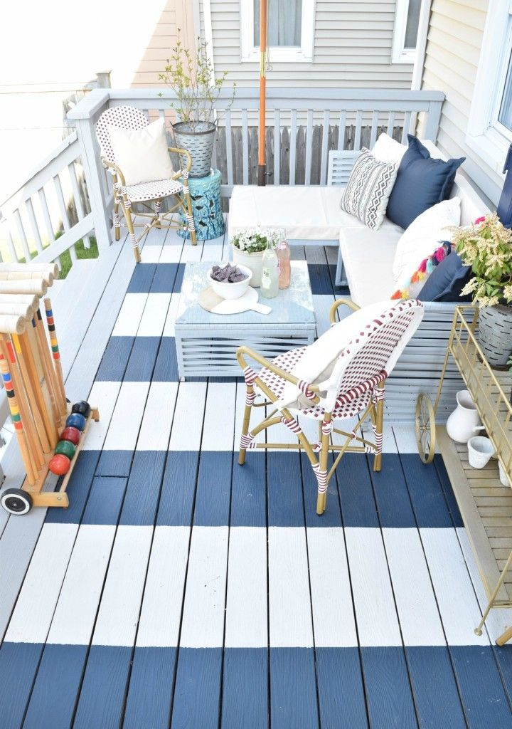 DIY Painted Deck best paint to use when painting your backyard deck - Nesting With Grace