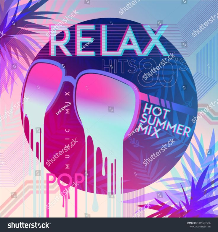 80's. Relax. 80' Hot summer mix. Ultra Violet. Retro style pop disco des…