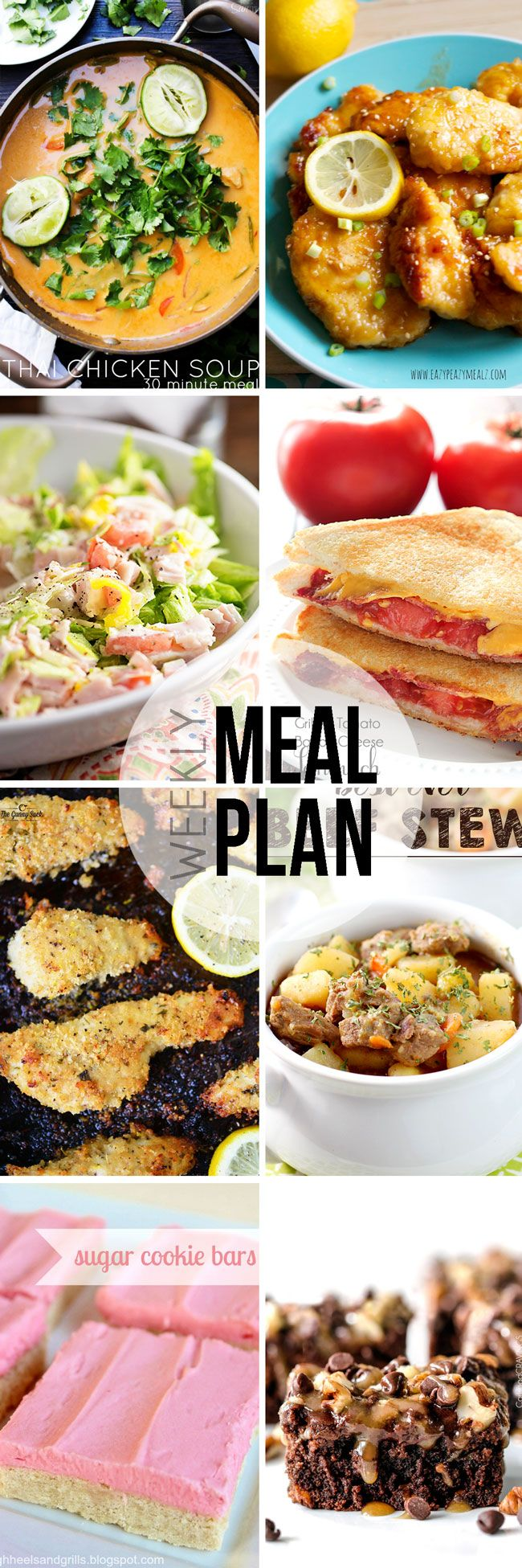 Easy Meal Plan Sunday #30 - Here are six fantastic main dishes and two delicious dessert recipes that your family will love.