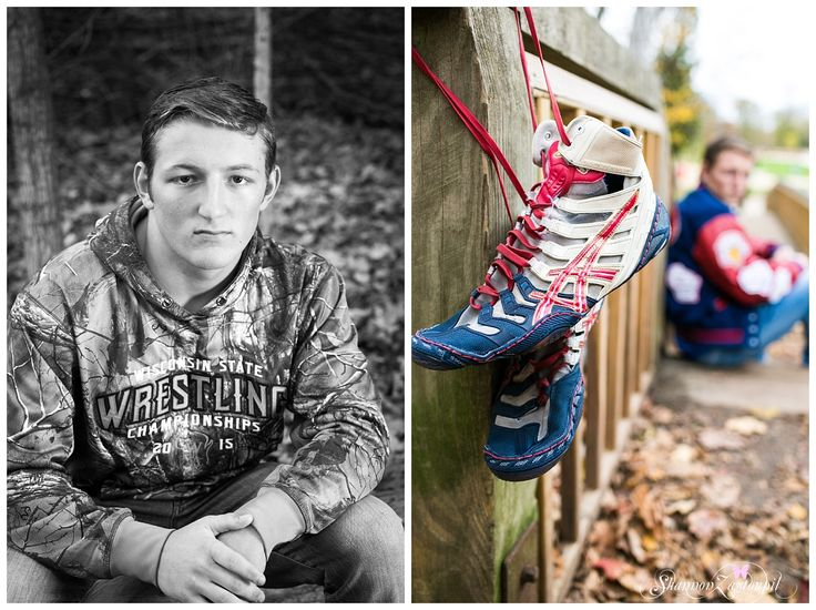 boy senior photos, senior pic ideas for boys, wrestling senior pictures, senior picture with wrestling shoes