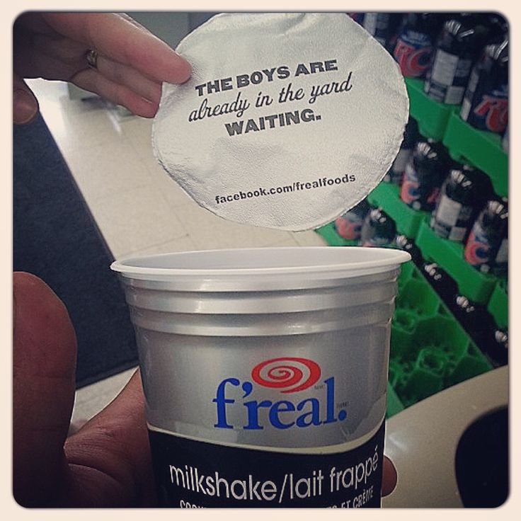 Clever marketing by F'real Milkshake; The Boys Are Already in the Yard Waiting.  Hilarious...I died laughing.